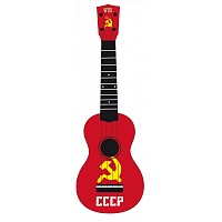 "WIKI UK/REBEL/CCCP  гитара укулеле сопрано, липа, рисунок ""флаг СССР"", чехол в комплекте"