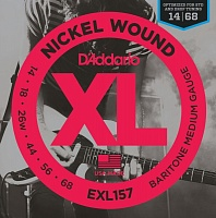 D'ADDARIO EXL157 струны для электрогитары, Bartione Guitar Medium, 14-68