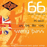 ROTOSOUND RS66LD BASS STRINGS STAINLESS STEEL струны для басгитары, сталь, 45-105