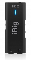 IK MULTIMEDIA iRig HD 2 компактный аудио интерфейс для гитары/баса с подключением к iOS и Mac