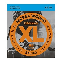 D'ADDARIO EXL140 струны для электрогитары, Light/Heavy, никель, 10-52