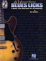 HL00695318 - 101 MUST-KNOW BLUES LICKS TAB BOOK/CD