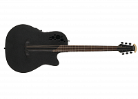 OVATION DS778TX-5 Elite T Mid Cutaway D-Scale Black Textured электроакустическая гитара-баритон